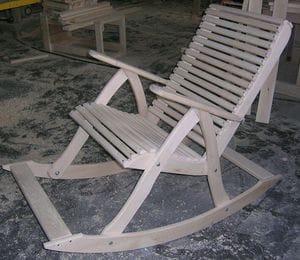 Кресло качалка своими руками из бруса 70