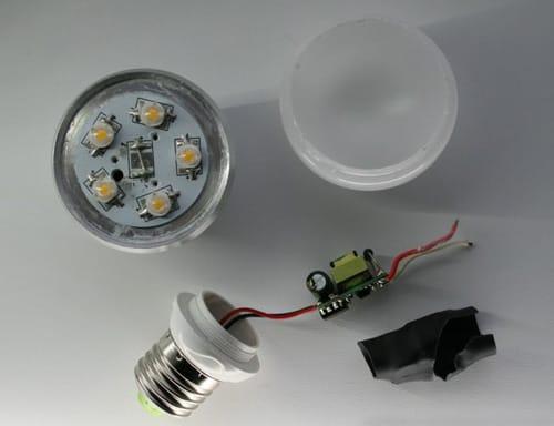 Ремонт диодной лампы