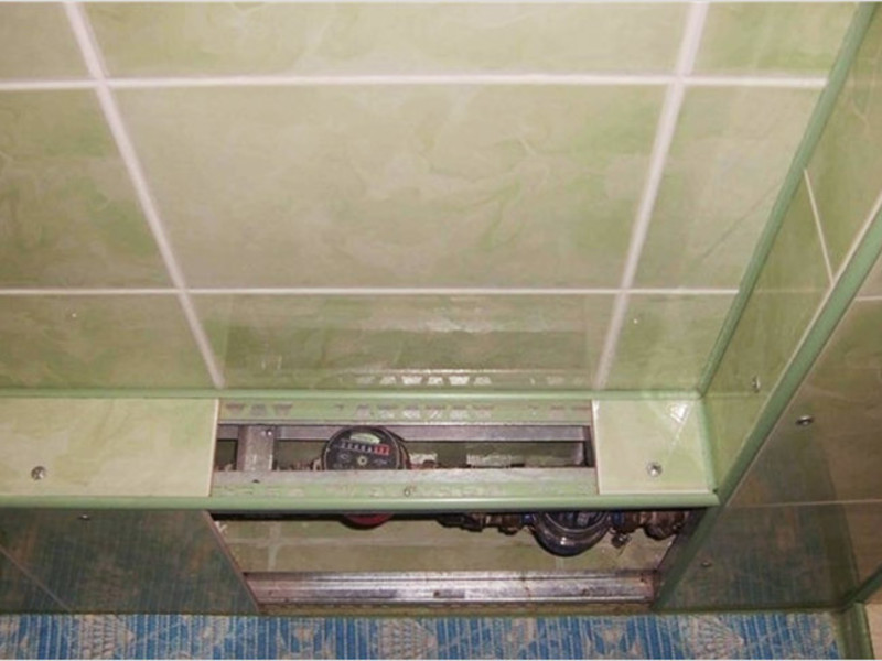 Короб из пластиковых панелей в ванной своими руками