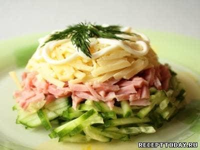 салат з шинкою рецепт