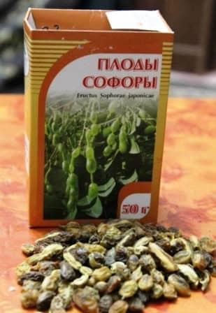 Трава софора японская свойства и противопоказания