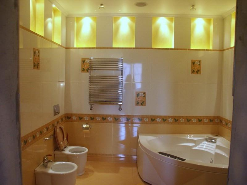 Как правильно сделать освещение в ванн