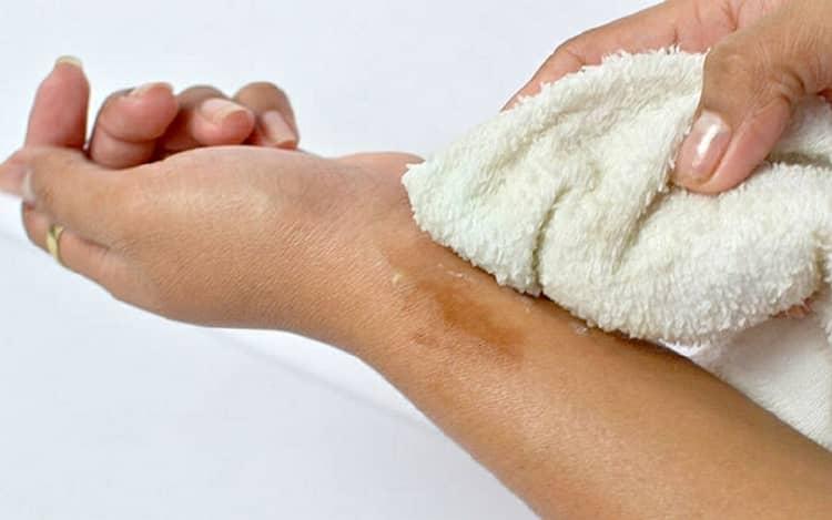 Смыв с кожи рук в домашних условиях 306