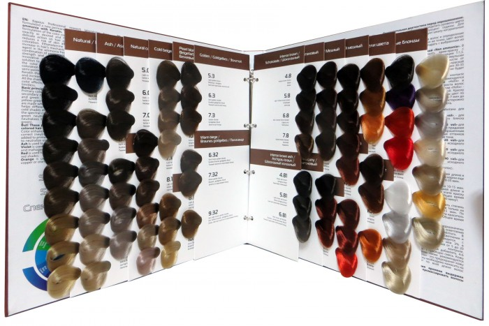 Капус кератин краска палитра цветов фото на волосах