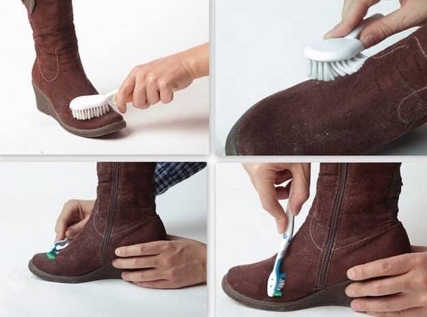 Як почистити замшеві чоботи в домашніх умовах від розлучень  d0440c123275e