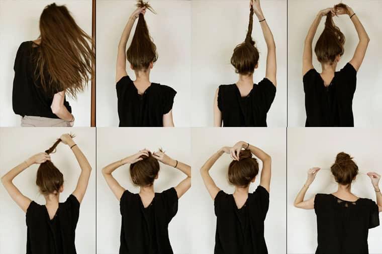 Как сделать гульку на голове модную