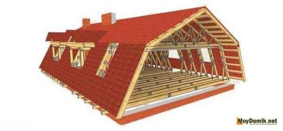 Как сделать мансарду в двускатной крыше 49