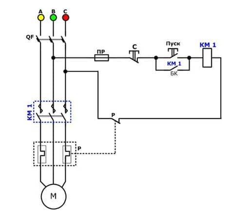 Схема магнитного выключателя на 380 в