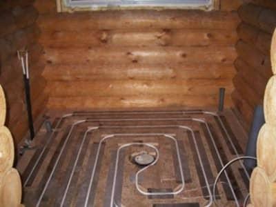 Как сделать теплые полы в бане