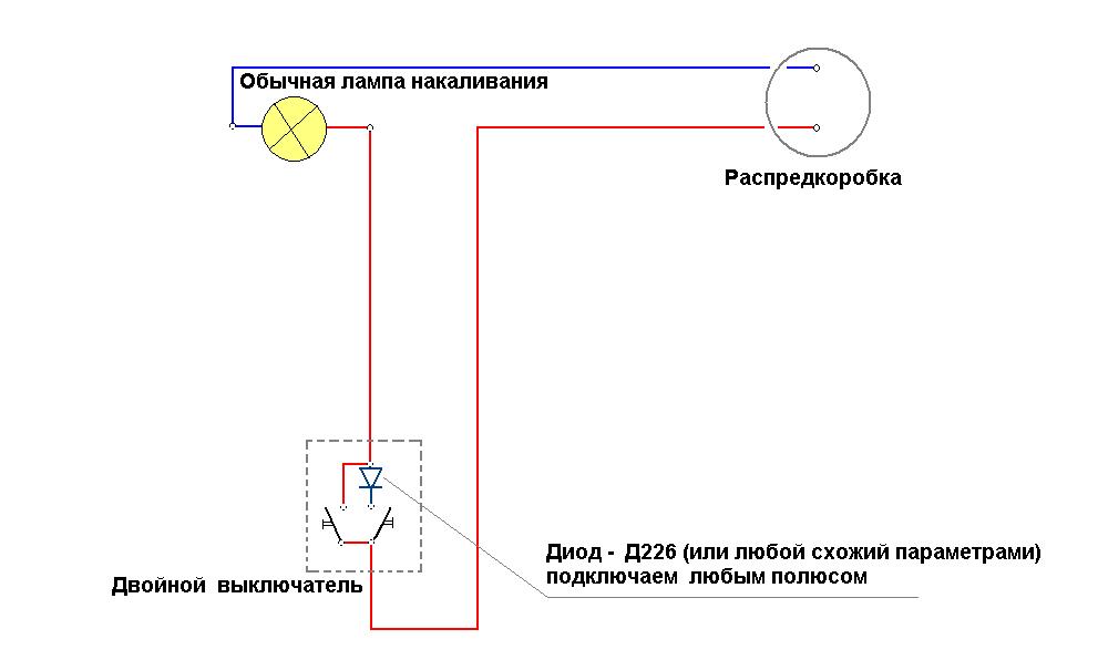 Схема подключения свет в квартире