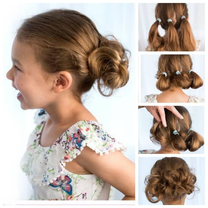 Прически на средние волосы в детский сад на каждый день фото пошагово