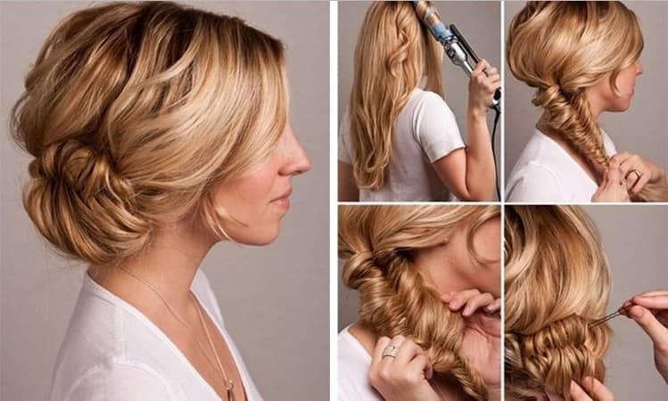 Фото укладки на длинные волосы на каждый день своими руками