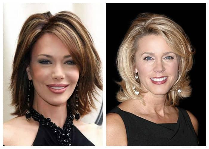 Причёски и цвет волос в 50 лет
