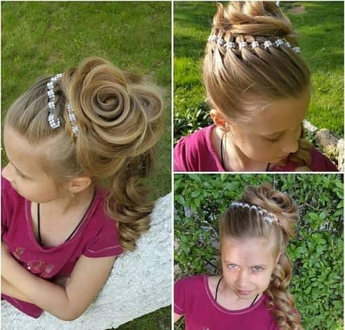Прическа в сад на короткие волосы