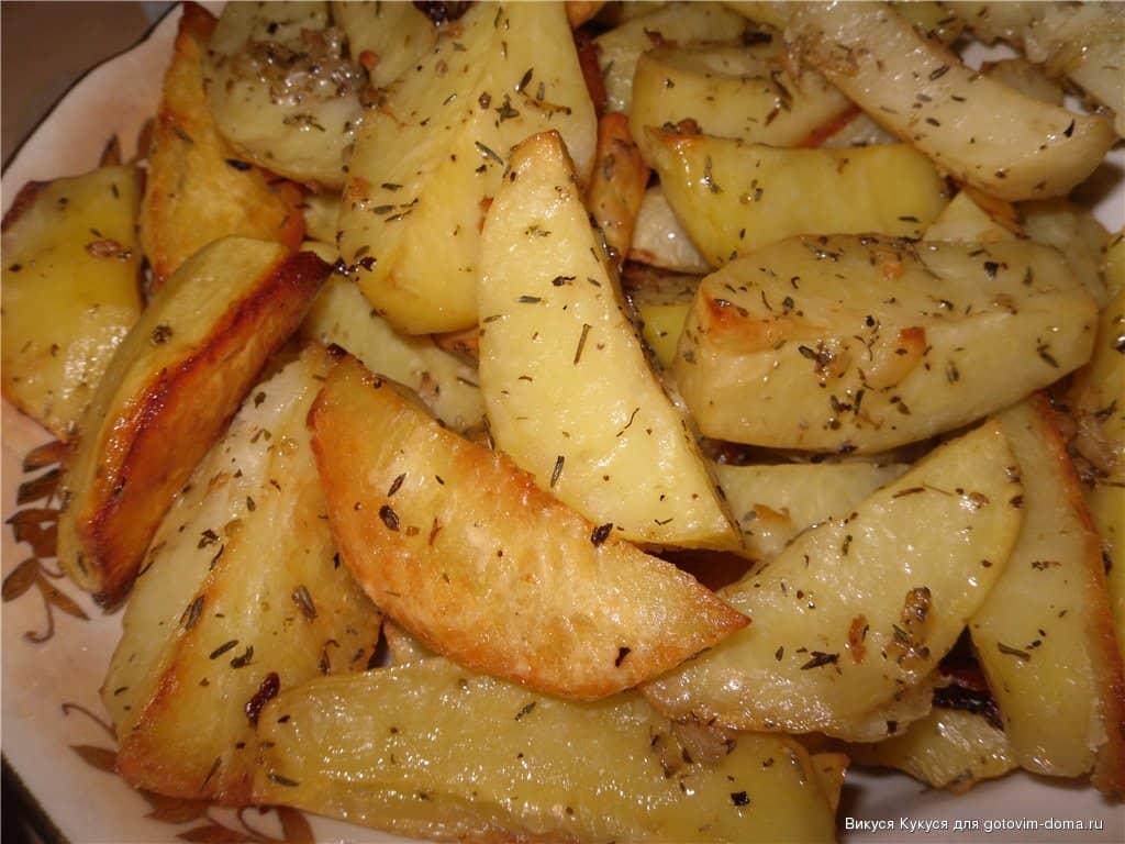 Вкусная жареная картошка в духовке рецепт