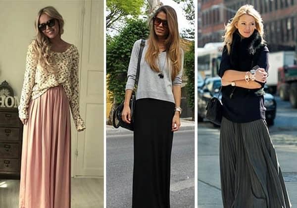 С чем носить длинные юбки зимой фото 18