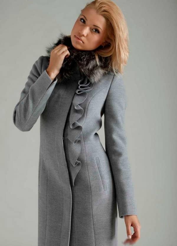 Модели зимнего пальто из драпа