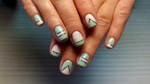 Легкий дизайн ногтей гель лаком фото