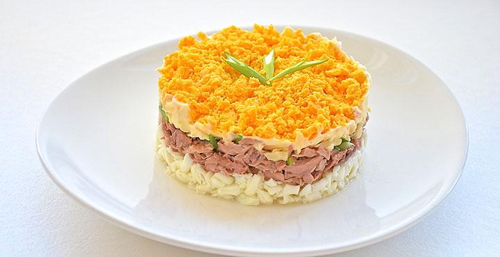 Салат мимоза с картофелем пошаговый рецепт