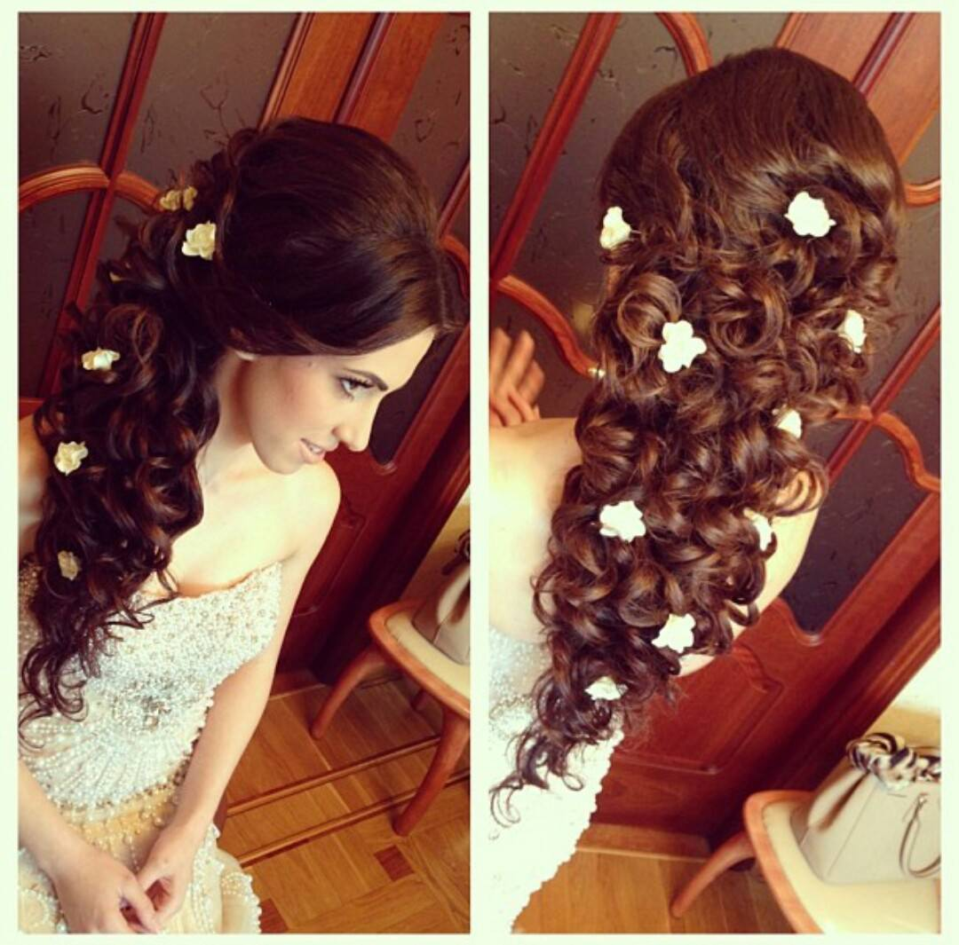 Свадебная причёска на дому фото