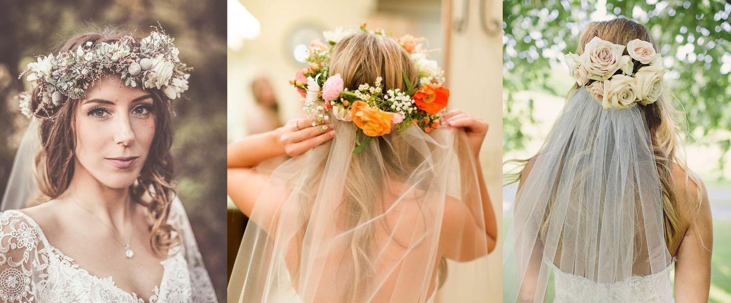 Прическа невесты с фатой. и украшением в волосах