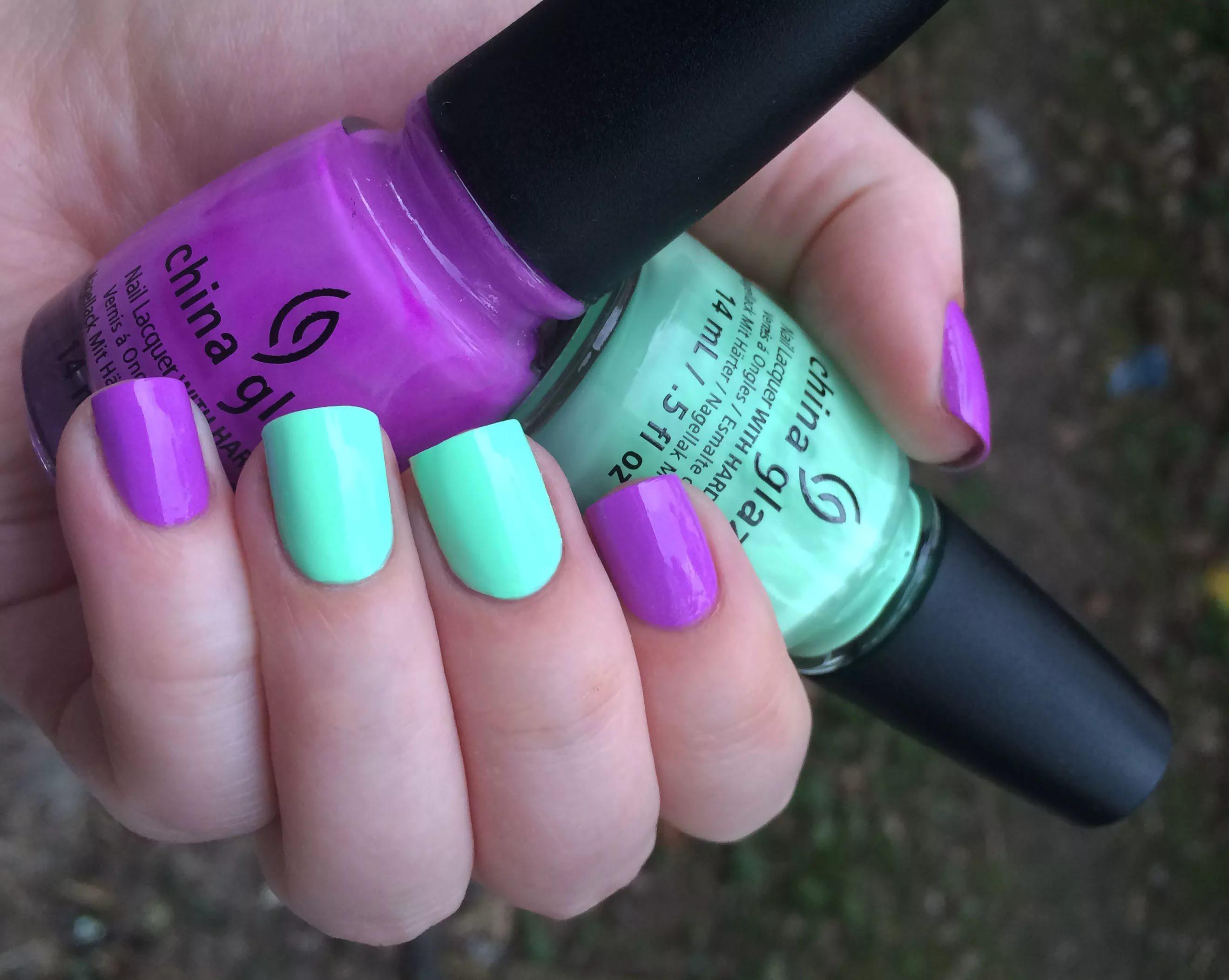 Красивое сочетание лаков на ногтях