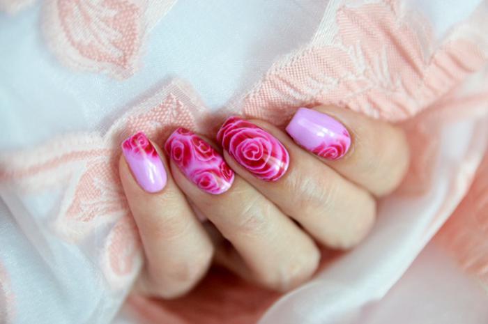 Как нарисовать розу лаками