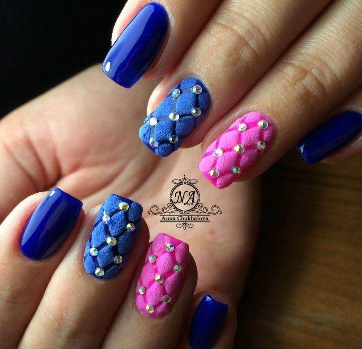 Дизайн ногтей 2018 фото голубой и розовый