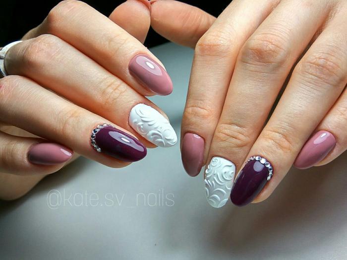 Миндальная форма ногтей фото с дизайном 2018