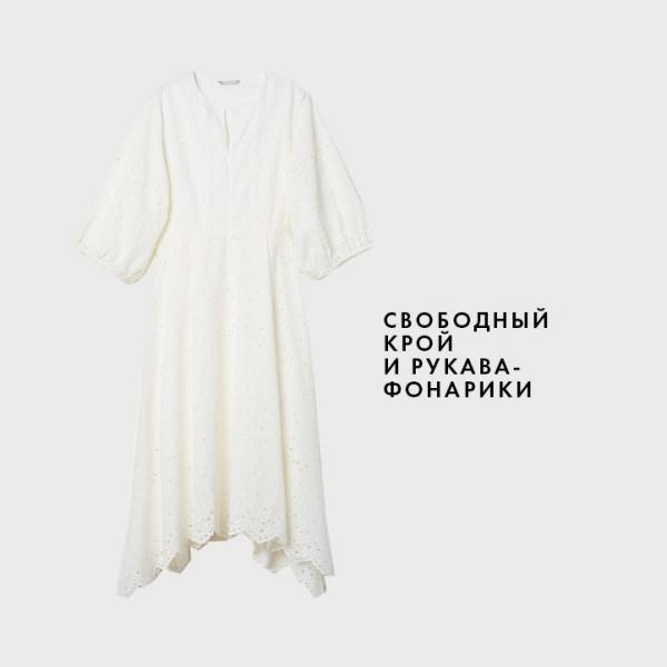 5db1cf18d838a8 Подібний фасон сукні весна літо 2019-2020 підійде на будь-яку жіночу  фігурку. Вільний крій сховає від очей недоліки фігури, а модні  рукави-ліхтарики ...